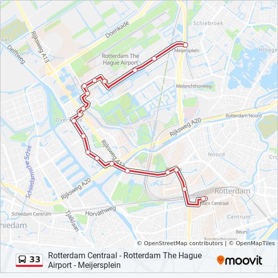 33 Route: Time Schedules, Stops & Maps - Centraal Station ...