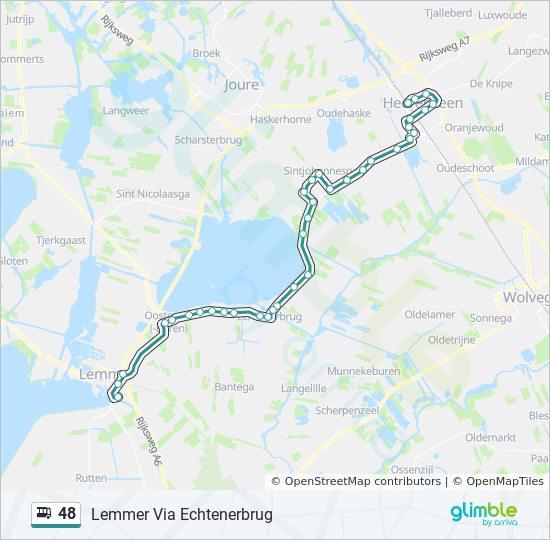 48 Route Dienstregeling Haltes Kaarten Lemmer Via Echtenerbrug