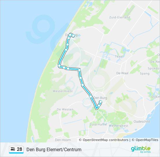 Karte Texel.Linie 28 Fahrpläne Haltestelle Karten Den Burg Elemert Centrum