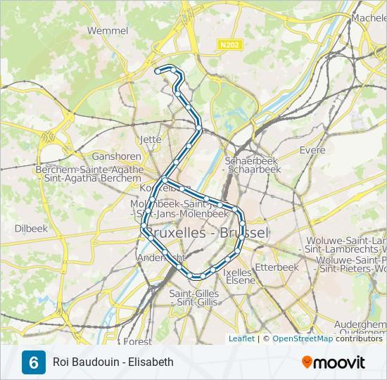 Rota da linha 6: horários, estações e mapas - Elisabeth