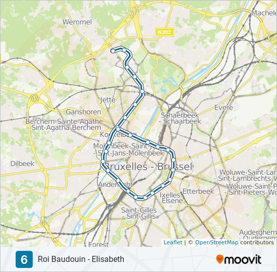 6 Route Time Schedules Stops Maps Roi Baudouin