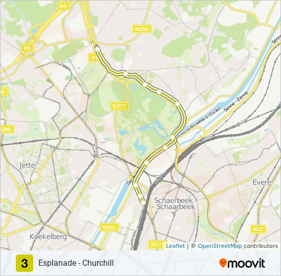 3 Route: Time Schedules, Stops & Maps