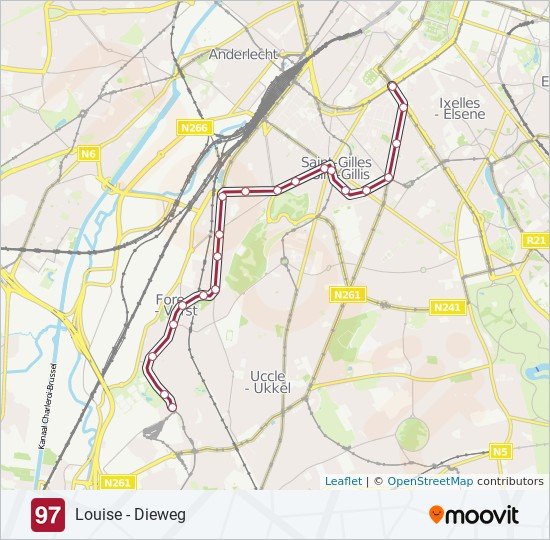 97 Route: Time Schedules, Stops & Maps - Neerstalle
