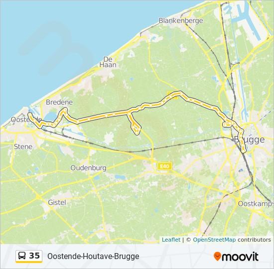 Linie 35 Fahrplane Haltestellen Karten Brugge Houtave Oostende