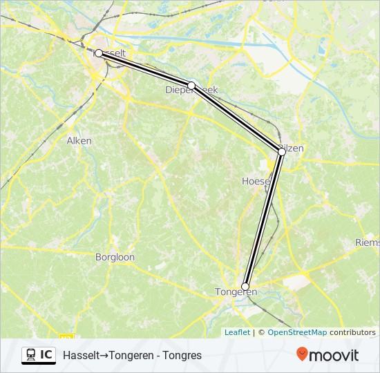 Linie Ic Fahrplane Haltestellen Karten Hasselt Tongres