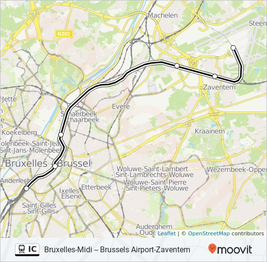 IC Route: Time Schedules, Stops & Maps - Brussels Airport ...