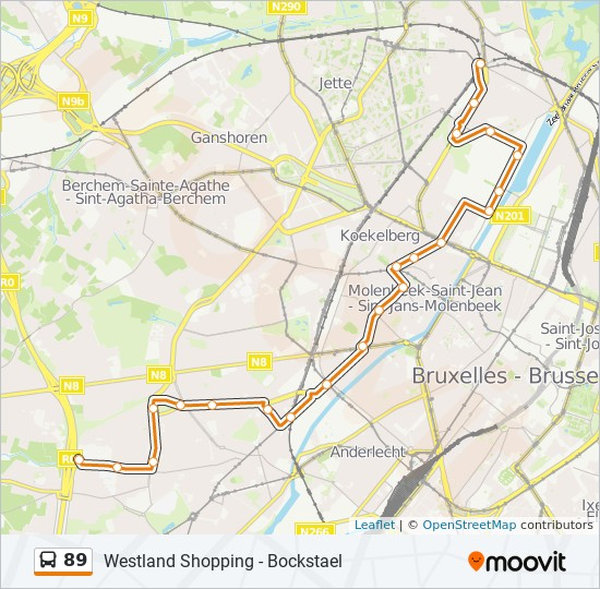 89 Route: Time Schedules, Stops & Maps