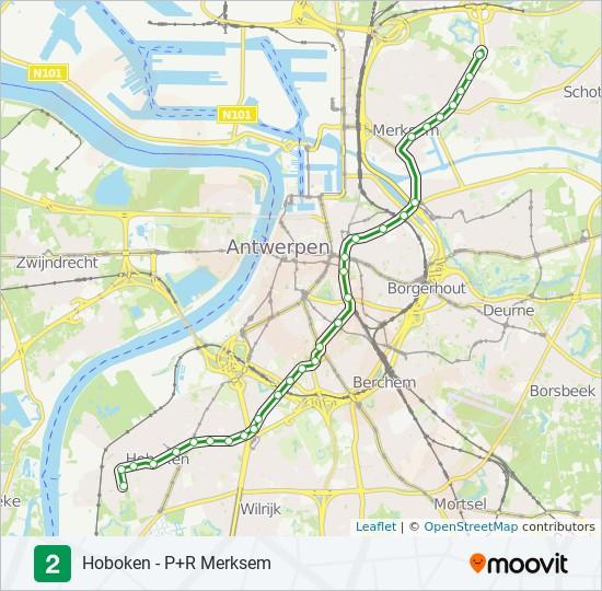 2 Route Time Schedules Stops Maps Hoboken P R Merksem