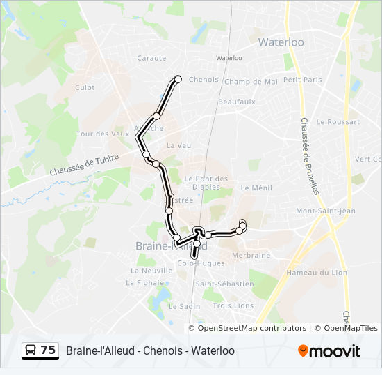 75 Bus Line Map