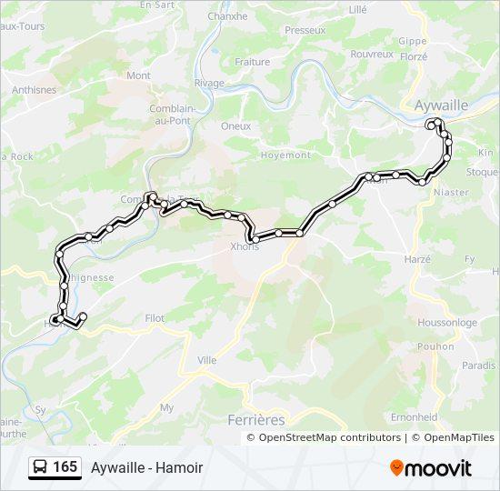 Carte Belgique Hamoir.Ligne 165 Horaires Stations Plans Hamoir Route De