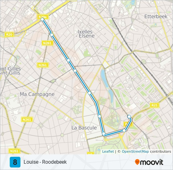 8 Route: Time Schedules, Stops & Maps - Buyl