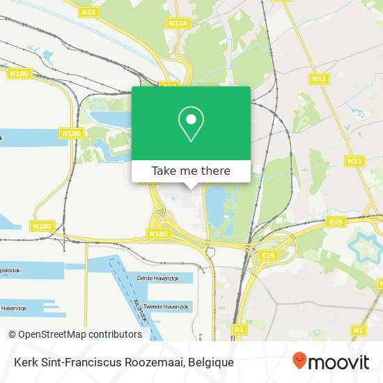 Kerk Sint-Franciscus Roozemaai kaart