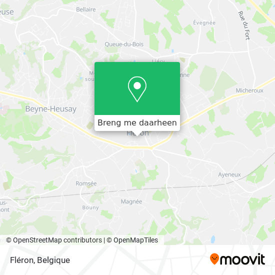 Fléron kaart