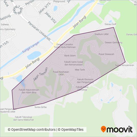 Peta kawasan liputan UKM (Universiti Kebangsaan Malaysia)