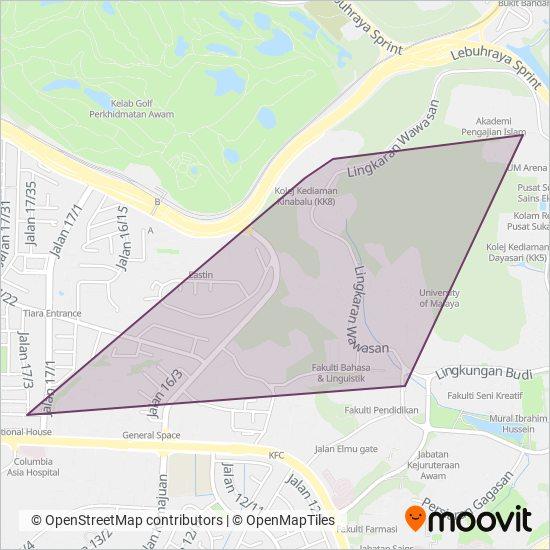 Peta kawasan liputan ���� UM (Universiti Malaya)