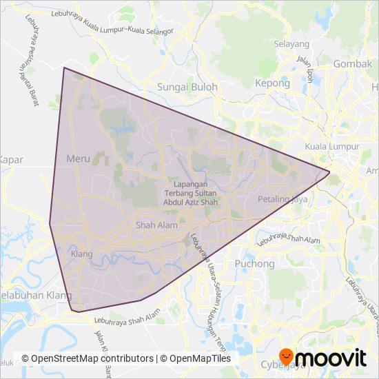 Peta kawasan liputan Seranas Sdn Bhd