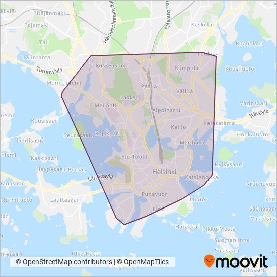 Hsl Tram Raitiovaunu Linjat Kaupungissa Helsinki