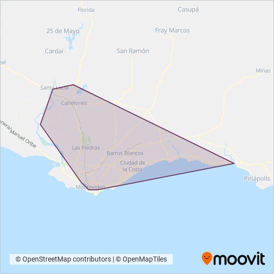Mapa del área de cobertura de COPSA