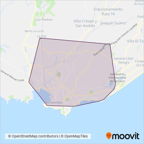 Mapa del área de cobertura de Diferenciales