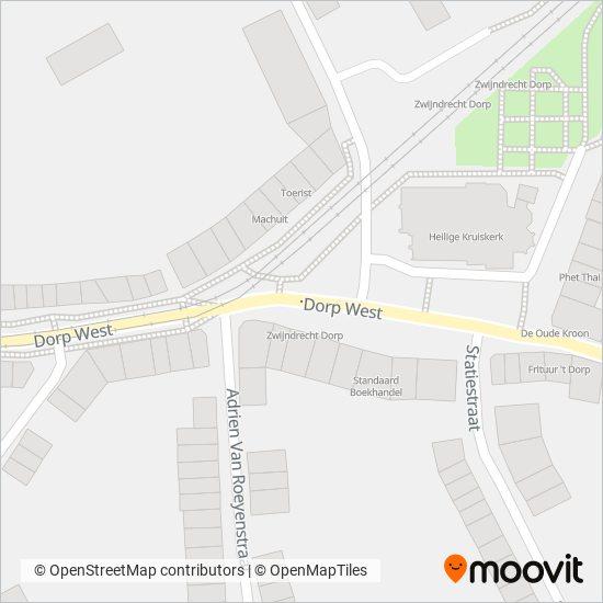 Mapa del área de cobertura de NMBS/SNCB