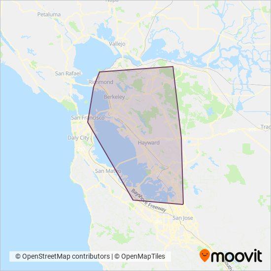 Karta Berkeley California.Ac Transit Buss Rutter Buss Tider I Sf Bay Area