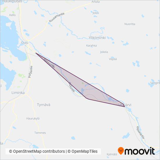 Oulun Joukkoliikenne Bussi Reitit Kaupungissa Oulu
