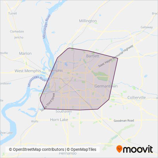 Memphis Area Transit Authoritiy: Bus Routes, In Memphis