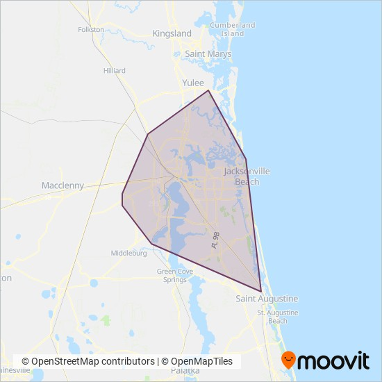 Jacksonville Transportation Authority Bus Routes In Jacksonville Johns County