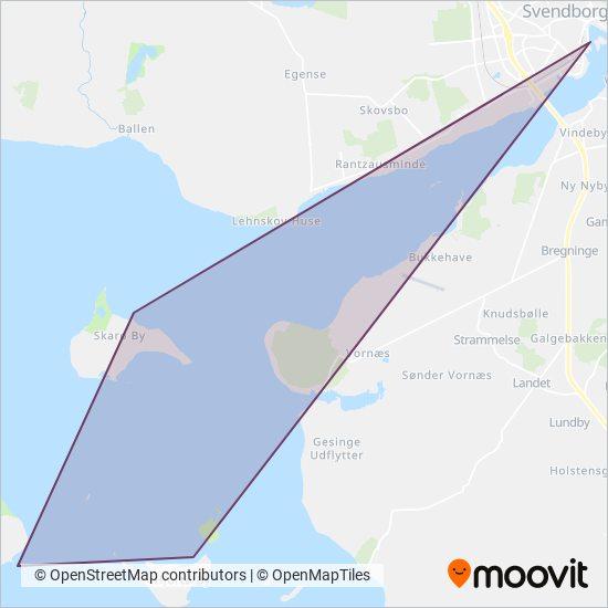 Svendborg Havn Færge- og Sundfart dækningsmap