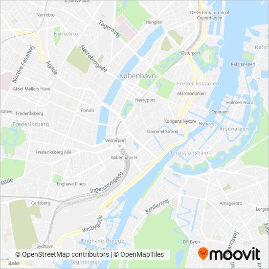 Metroselskabet dækningsmap