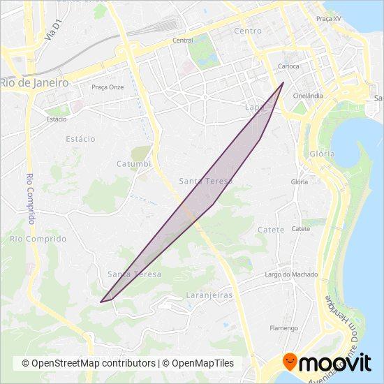 Mapa da área de cobertura da CENTRAL