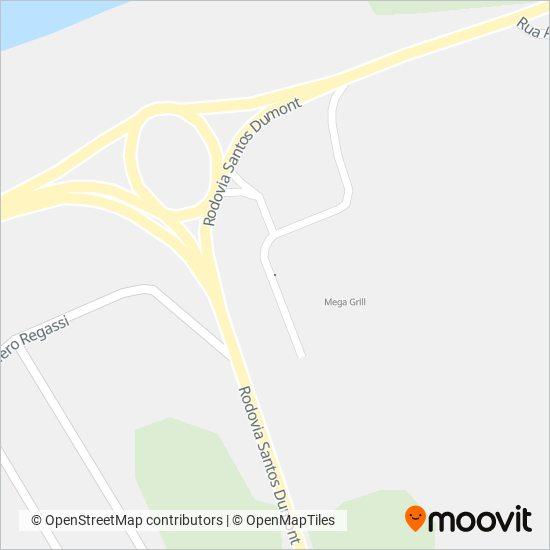 Mapa da área de cobertura da Viação Riodoce