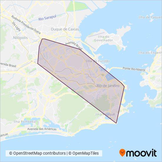 Mapa da área de cobertura da Consórcio INTERNORTE