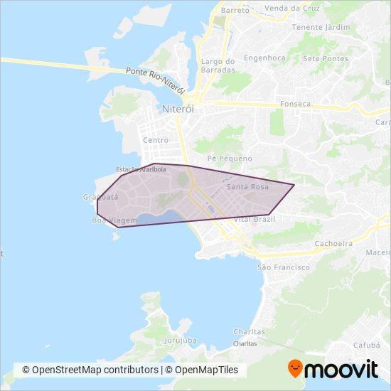 Mapa da área de cobertura da Consórcio TRANSNIT (Araçatuba)