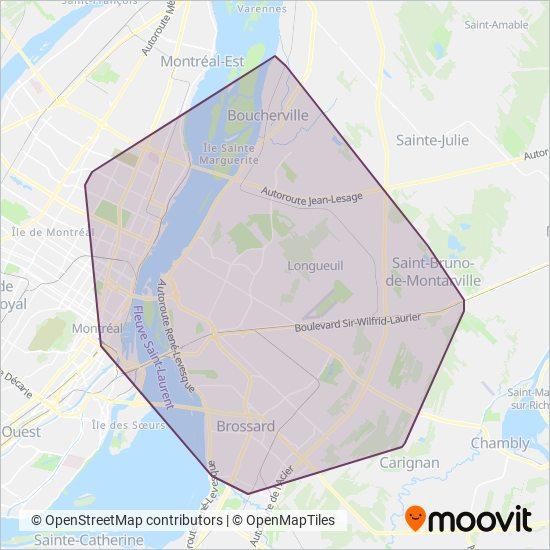 Carte de la zone de couverture de RTL