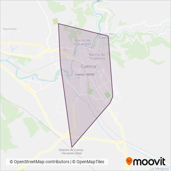 Cuenca - Agency coverage area map