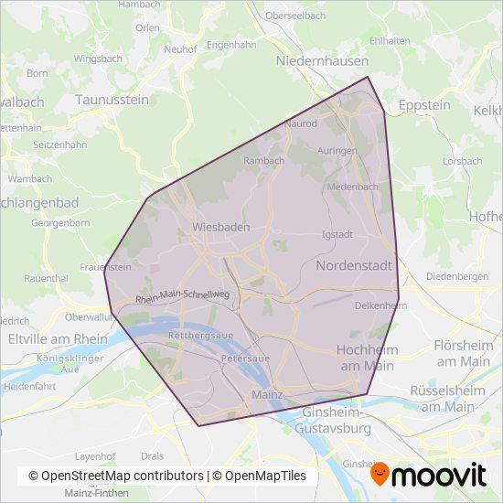 Stadt Wiesbaden coverage area map