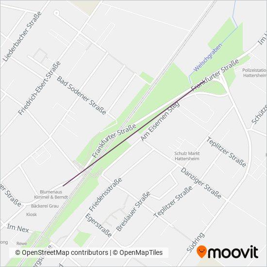 Main-Taunus-Anschluss-Sammeltaxi kapsama alanı haritası