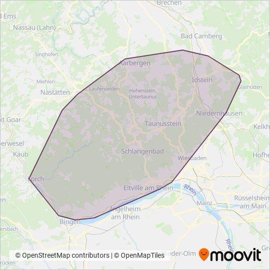 Rheingau-Taunus coverage area map