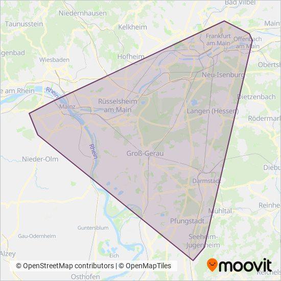 Tram kapsama alanı haritası
