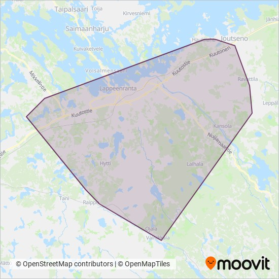 Toimi Vento Ky Bussi Reitit Kaupungissa Lappeenranta