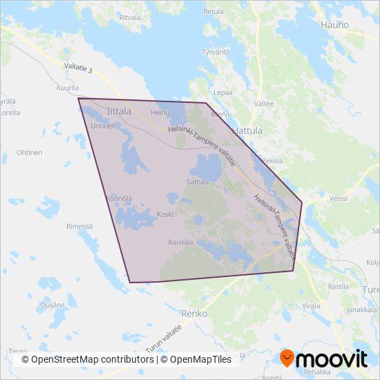 Miodex Oy Bussi Reitit Kaupungissa Hameenlinna