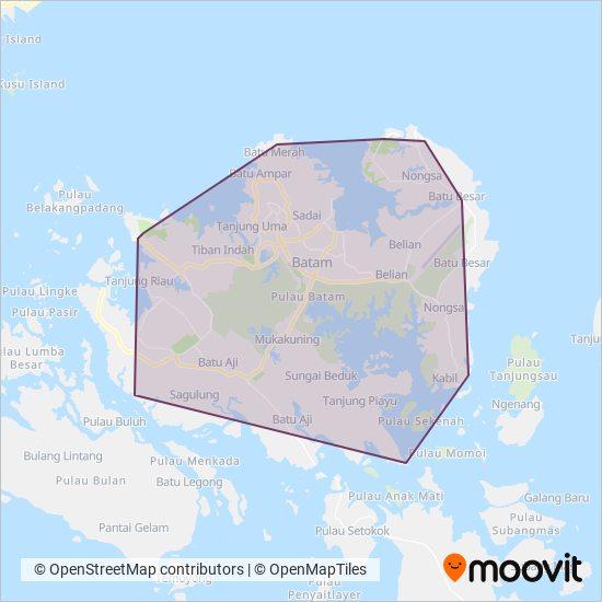 Trans Batam coverage area map