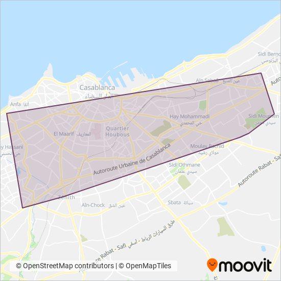 Casa Tramway: Light Rail lines, in Casablanca on johannesburg map, key largo map, algeria map, timbuktu map, potsdam map, dubai map, morocco map, tripoli map, western sahara map, marrakesh map, marrakech map, africa map, algiers map, dar es salaam map, cape town map, damascus map, accra map, salerno map, oran map, lima map,