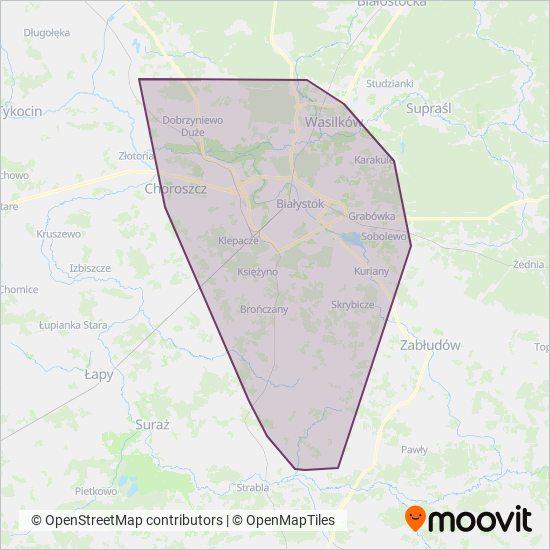 BKM Białystok Verbundsgebiet