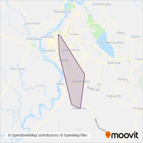 San Jose Obrero S.R.L. coverage area map