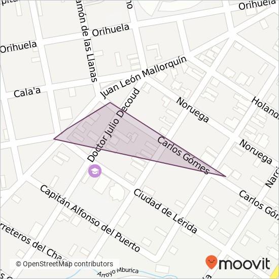 Cnel. Panchito Lopez S.A. coverage area map
