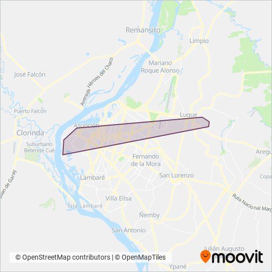 Gral. Aquino SRL coverage area map