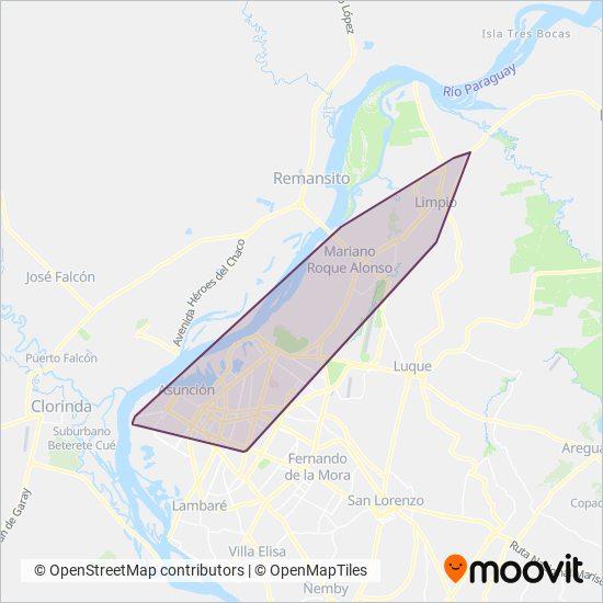 Transportistas Guarani SRL coverage area map