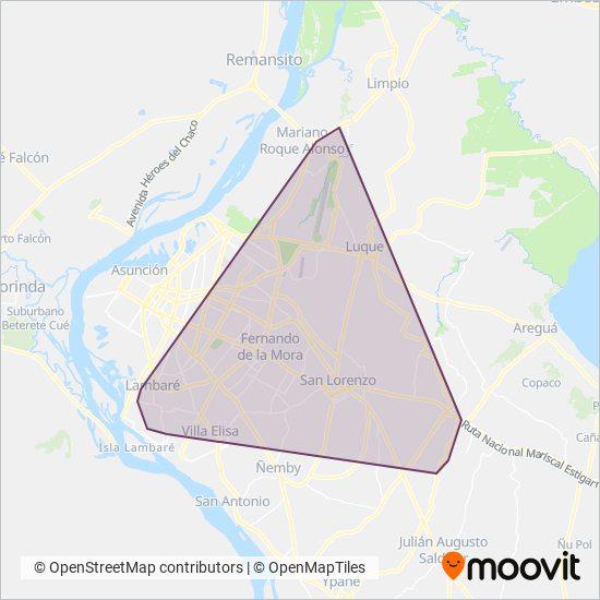 Capiatá SRL coverage area map